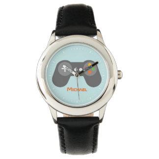 Light Blue Video Game Controller Wrist Watch