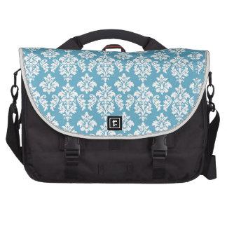 Light Blue Vintage Damask Pattern Computer Bag