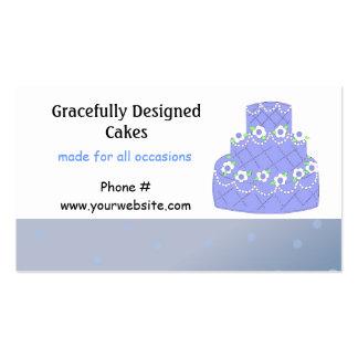 Light Blue Wedding Cake Design Business Card