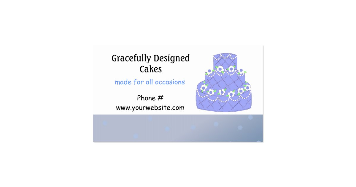 wedding cake business from home light blue wedding cake design business card zazzle 22133
