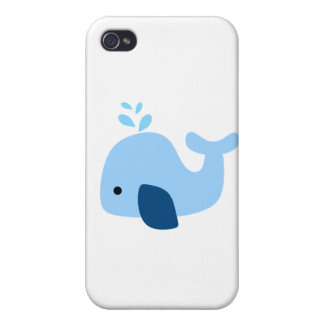 Light Blue Whale Covers For iPhone 4