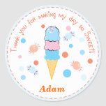 Light blue Whimsical Ice cream Party Sticker