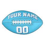 LIGHT BLUE WHITE AND NAVY Custom Football