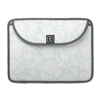 Light Blue, White, Circles, Swirls Sleeve For MacBooks