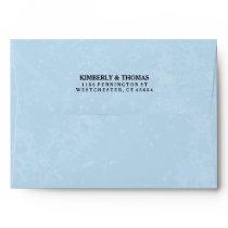 Light Blue & White Custom Invitation Envelope