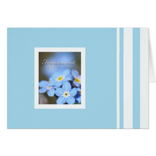 Light Blue with Forget Me Not Card
