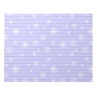 Light Blue With Snowflakes Notepads