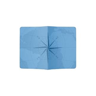 Light Blue World Map Custom Passport Holder