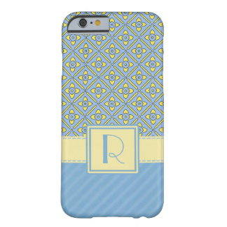 Light Blue & Yellow iPhone 4 & 4S case Barely There iPhone 6 Case