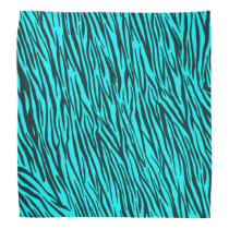Light Blue Zebra Animal Print Bandana