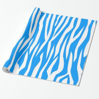 Light Blue Zebra Print Gift Wrap