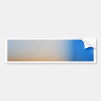 Light blur blue and brown design car bumper sticker