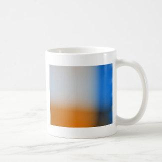 Light blur blue and brown design coffee mug
