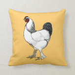 Light Brahma Rooster Gift for Poultry Farmer Throw Pillow