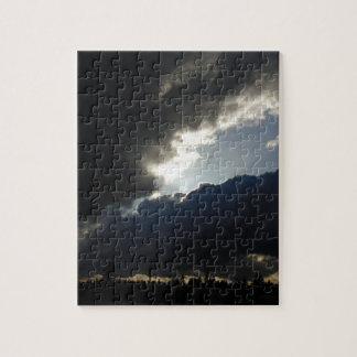 Light Breaks Through Jigsaw Puzzle
