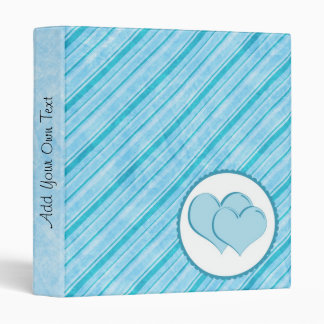 Light & Bright Blues With Double Hearts Binder