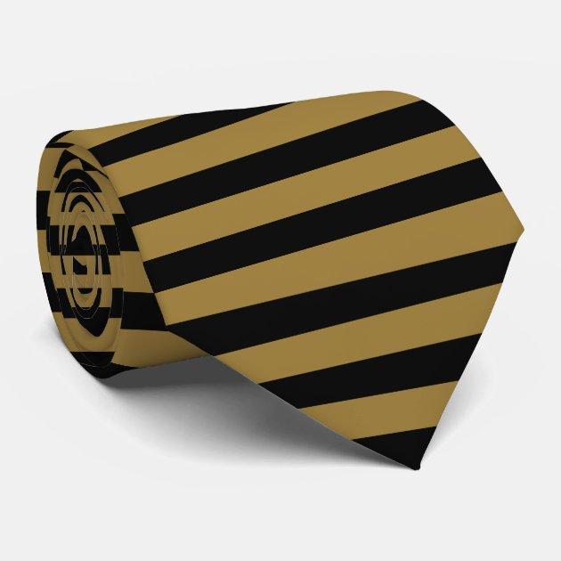 light bronze and black horizontal striped tie zazzle