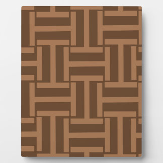 Light Brown and Brown T Weave Plaque