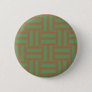 Light Brown and Green T Weave Pinback Button