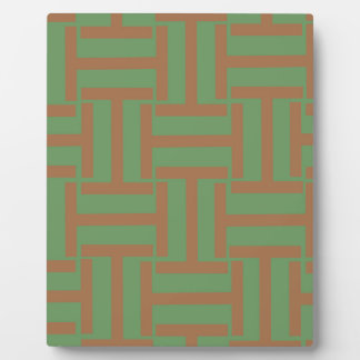 Light Brown and Green T Weave Plaque