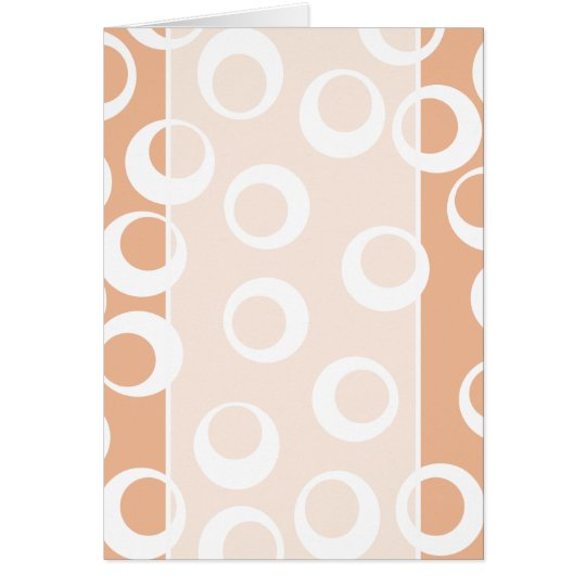 Light Brown and White Circles Pattern. Card