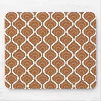Light Brown and White Retro Pattern Mouse Pad