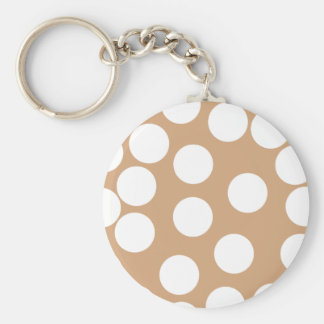 Light Brown and White Spot Pattern. Keychain