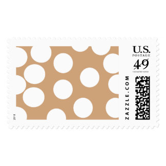 Light Brown and White Spot Pattern. Stamp