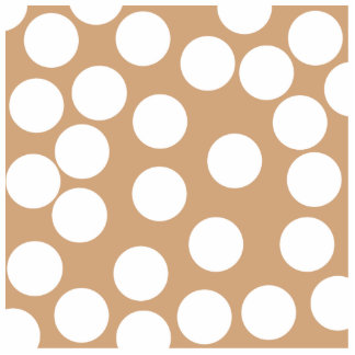Light Brown and White Spot Pattern. Statuette