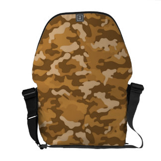 Light Brown Army Military Camo Camouflage Pattern Courier Bag
