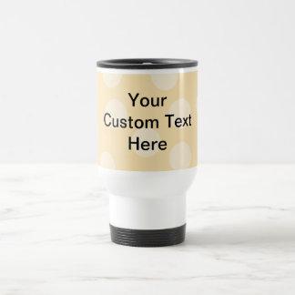 Light Brown, Beige Spot Pattern and Custom Text. 15 Oz Stainless Steel Travel Mug