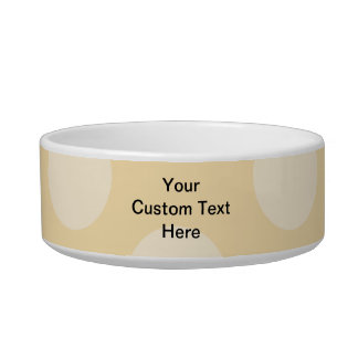 Light Brown, Beige Spot Pattern and Custom Text. Bowl