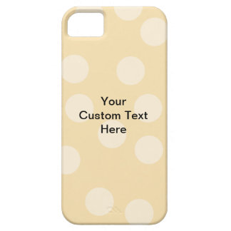 Light Brown, Beige Spot Pattern and Custom Text. iPhone SE/5/5s Case