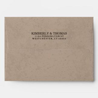 Light Brown & Black Custom Invitation Envelope