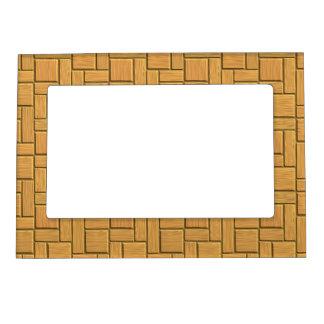 Light Brown Block Design Magnetic Photo Frame