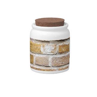 Light Brown Brick Wall Candy Jar