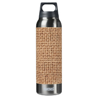 Light Brown Burlap Sack Background 16 Oz Insulated SIGG Thermos Water Bottle