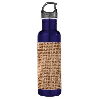 Light Brown Burlap Sack Background 24oz Water Bottle