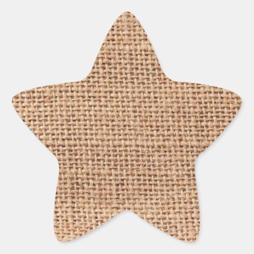 Light Brown Burlap Sack Background Sticker
