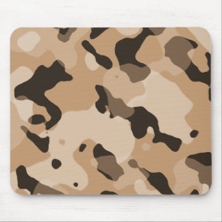 Light Brown Camo; Camouflage Mouse Pad