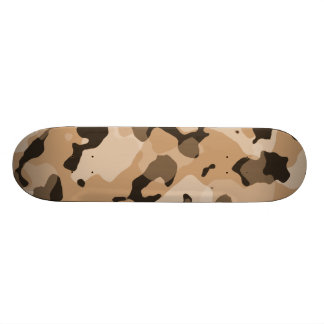Light Brown Camo; Camouflage Skateboard Deck