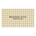 Light brown check pattern. Beige gingham. Business Card Templates
