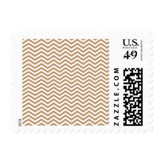 Light Brown Chevron Stripes Postage