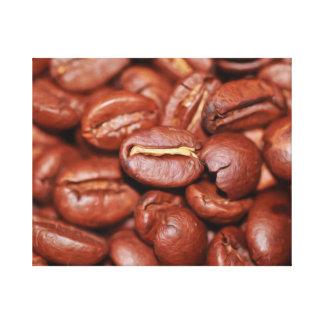 Light Brown Coffee Beans Canvas Print