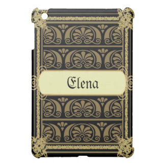 Light Brown Damask Ipad Case