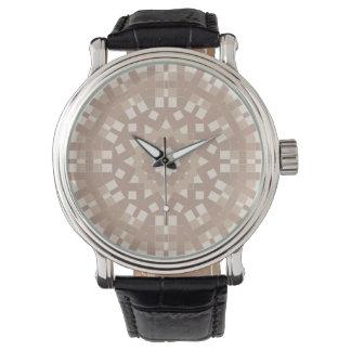 Light Brown Digital Mosaic Watch