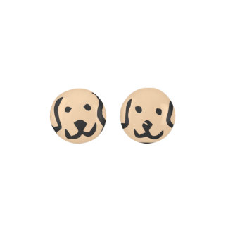 LIGHT BROWN Dog Puppy Earrings