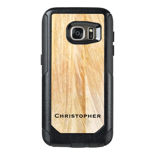 Light Brown Faux Stone OtterBox Commuter Galaxy S7
