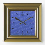 Light Brown Faux Wood Add Your Own Photo Square Wall Clock