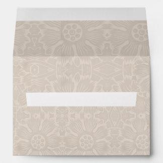 light brown flourishes vintage envelopes